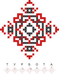 Текстовый украинский орнамент: Турбота