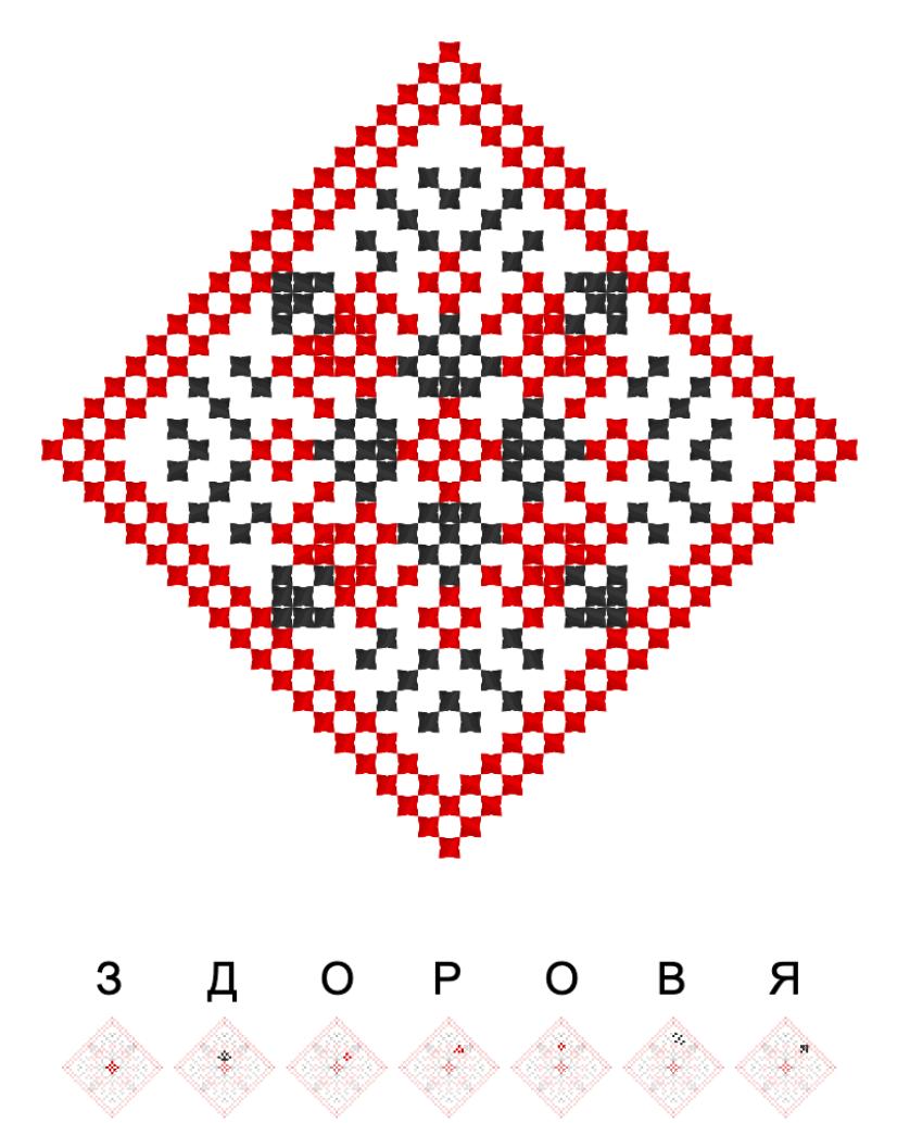 Текстовий слов'янський орнамент: Здоров'я
