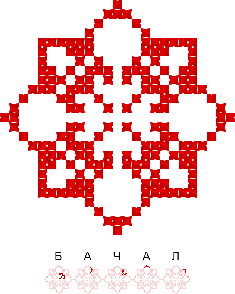 Текстовий слов'янський орнамент: Бачал
