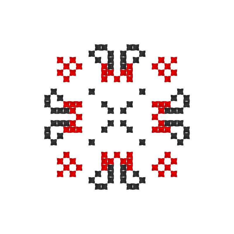 Текстовий слов'янський орнамент: Мері