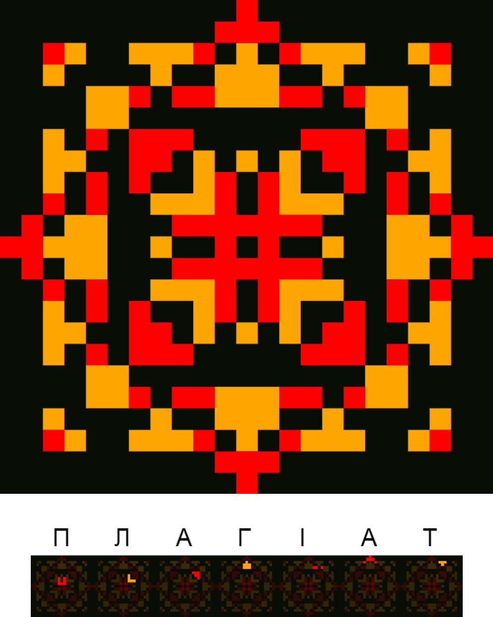 Текстовий слов'янський орнамент: Плагіат