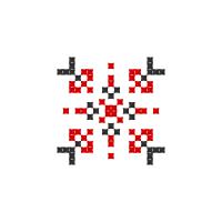 Текстовый украинский орнамент: Іісус