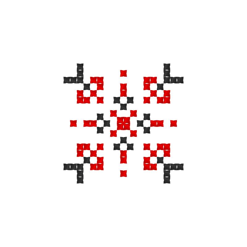 Текстовий слов'янський орнамент: Іісус