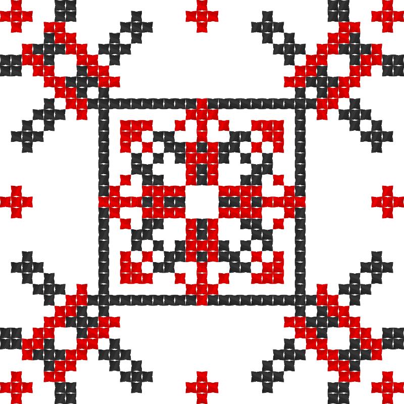 Текстовий слов'янський орнамент: Пісня