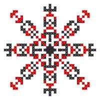 Текстовый украинский орнамент: свіже та смачне