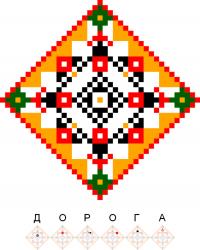 Текстовый украинский орнамент: Дорога