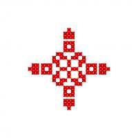 Текстовый украинский орнамент: Бог