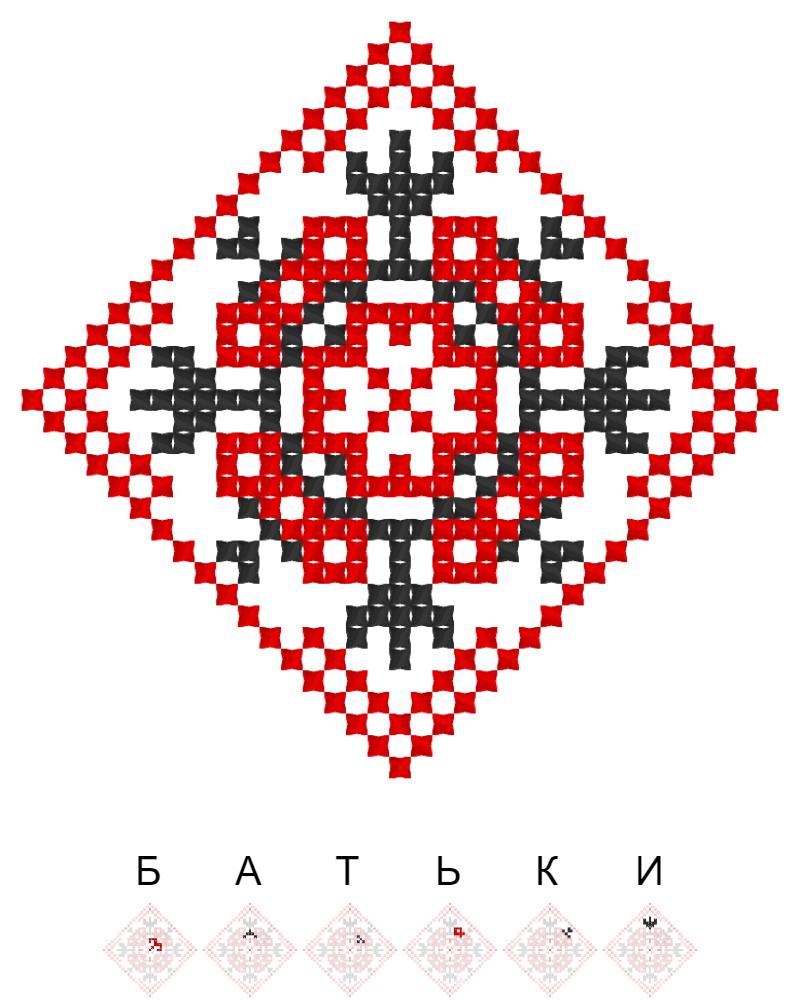 Текстовий слов'янський орнамент: Батьки