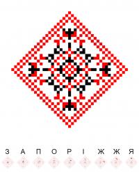 Текстовый украинский орнамент: Запорiжжя