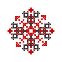 Текстовый украинский орнамент: НАТАЛЬЯ