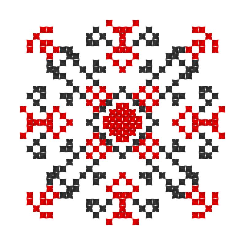 Текстовий слов'янський орнамент: АЛЕКСАНДРА