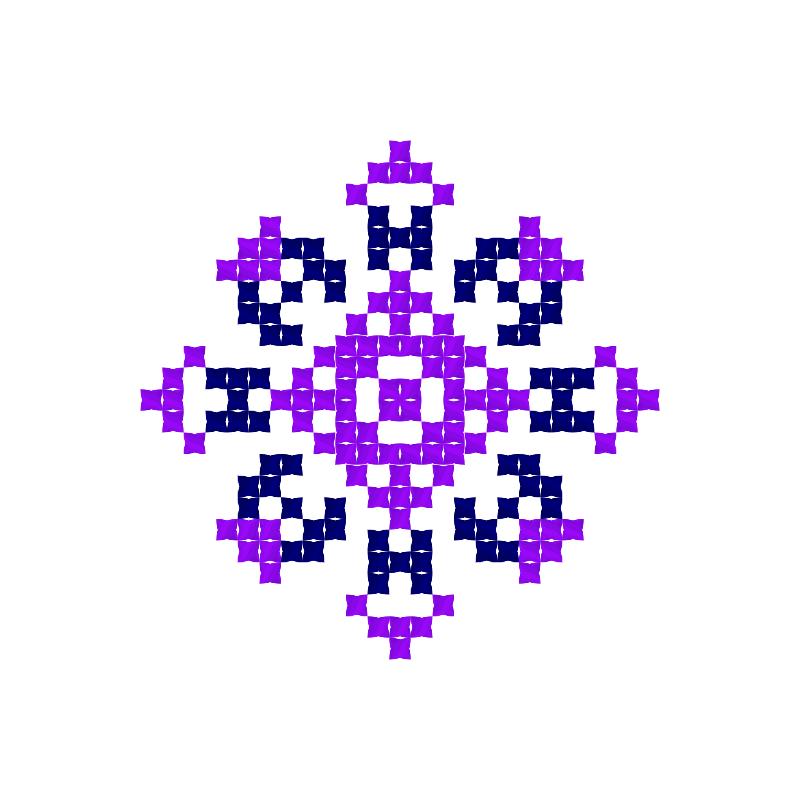 Текстовий слов'янський орнамент: ЯНА