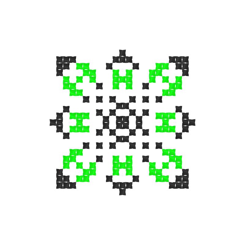 Текстовий слов'янський орнамент: ІННА