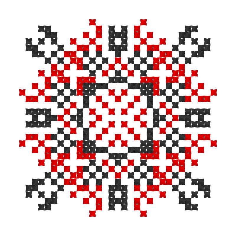 Текстовий слов'янський орнамент: ВАЛЕНТИН