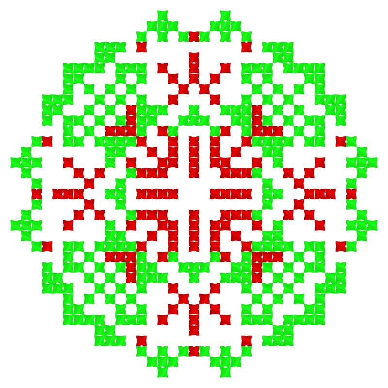 Текстовий слов'янський орнамент: ВАЛЕРІЯ