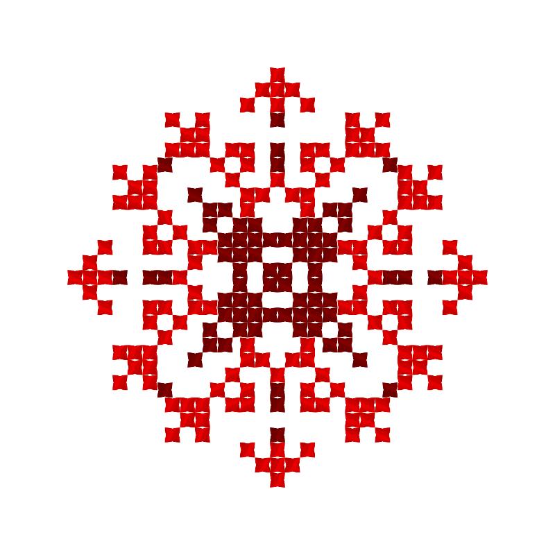 Текстовий слов'янський орнамент: ГЛОРІЯ