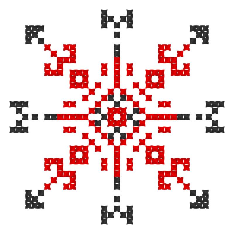 Текстовий слов'янський орнамент: Любов, сім'я