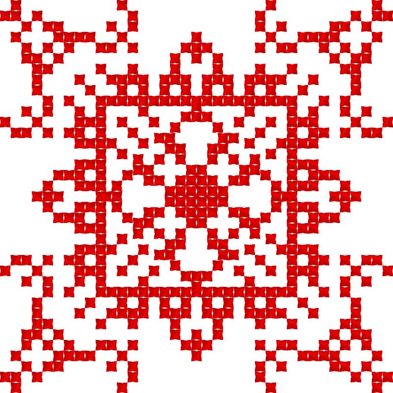 Текстовий слов'янський орнамент: Я вишиванка