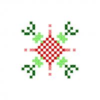 Текстовый украинский орнамент: garden