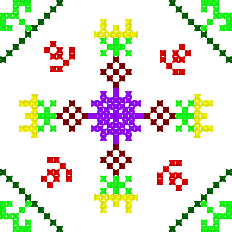 Текстовий слов'янський орнамент: spring garden