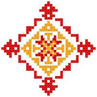 Текстовый украинский орнамент: Алла1966