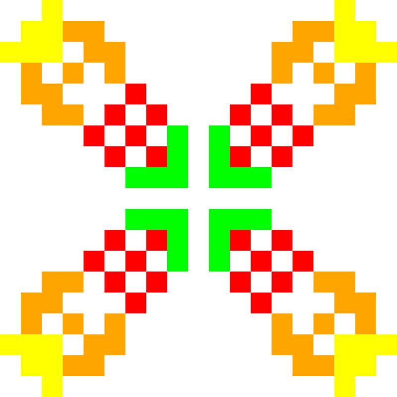 Текстовий слов'янський орнамент: Лена