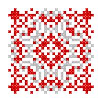 Текстовый украинский орнамент: Мария