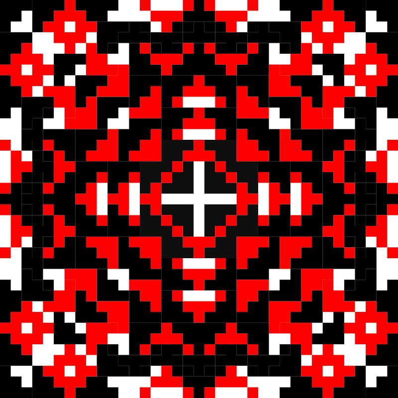 Текстовий слов'янський орнамент: Великодній візерунок
