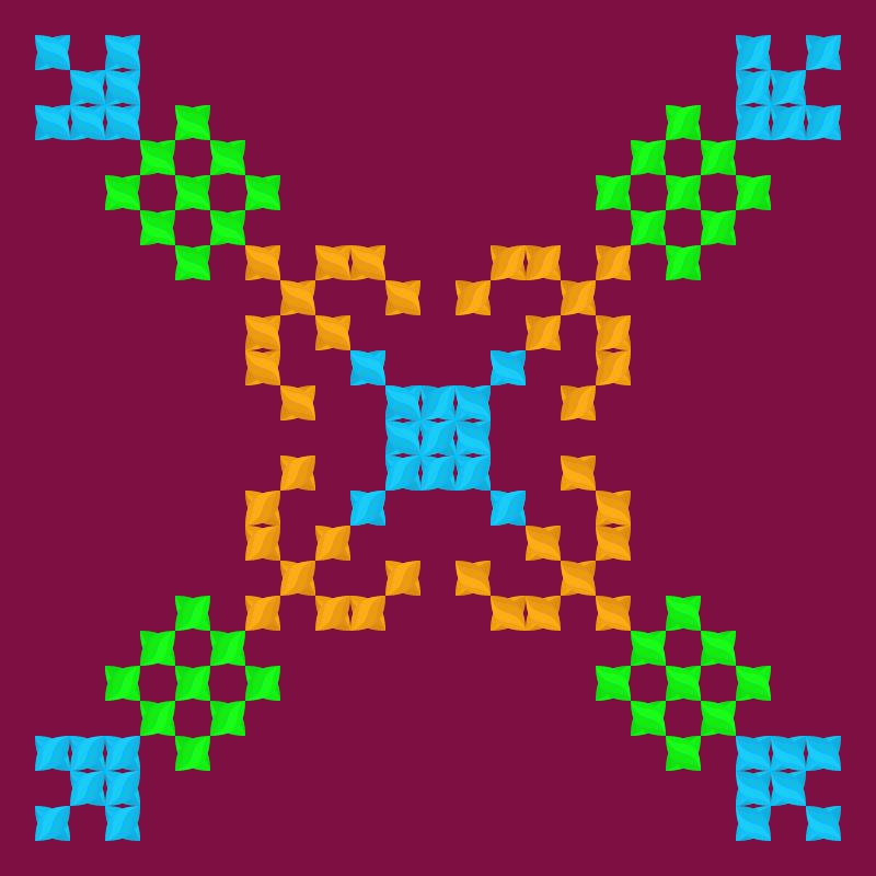 Текстовий слов'янський орнамент: Азия