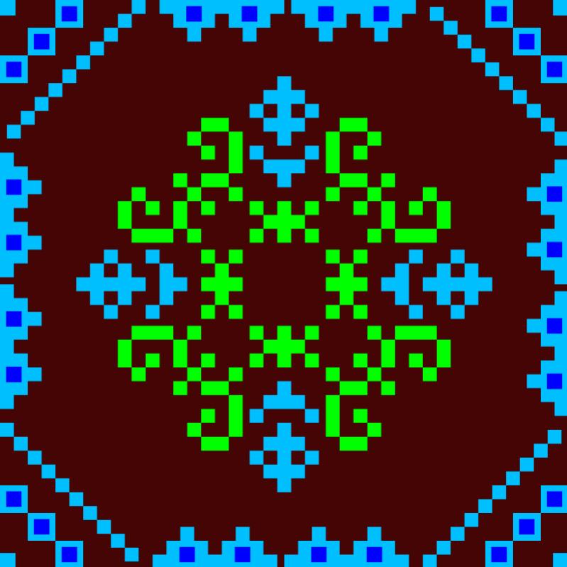 Текстовий слов'янський орнамент: Жираф
