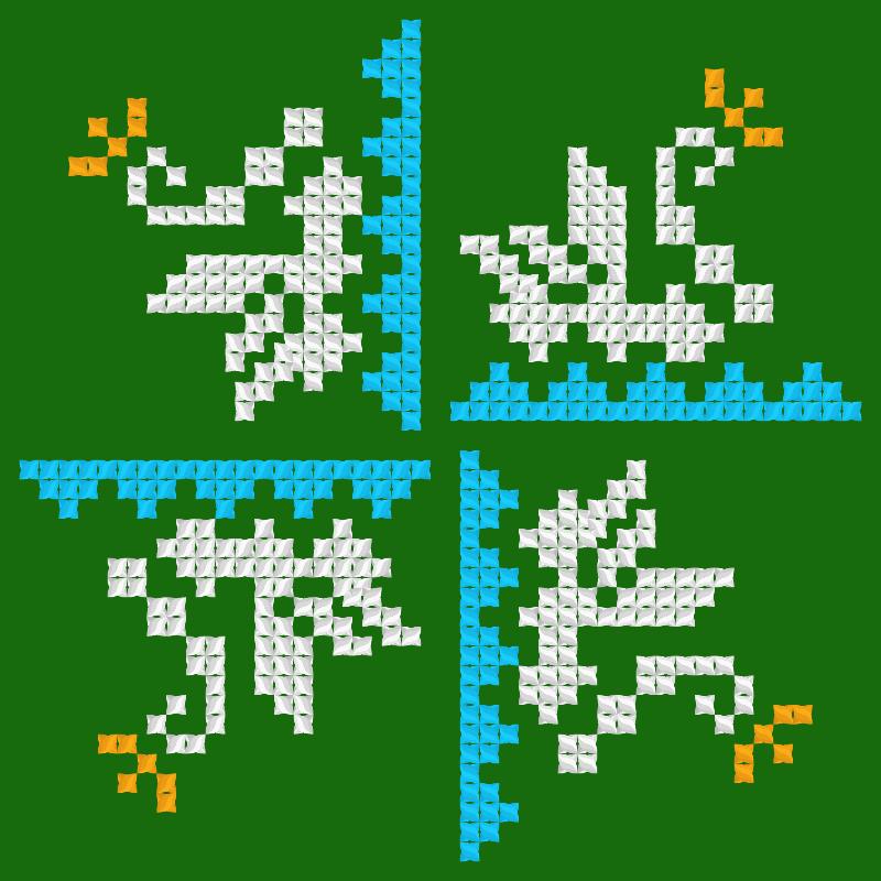 Текстовий слов'янський орнамент: Царевна-лебедь