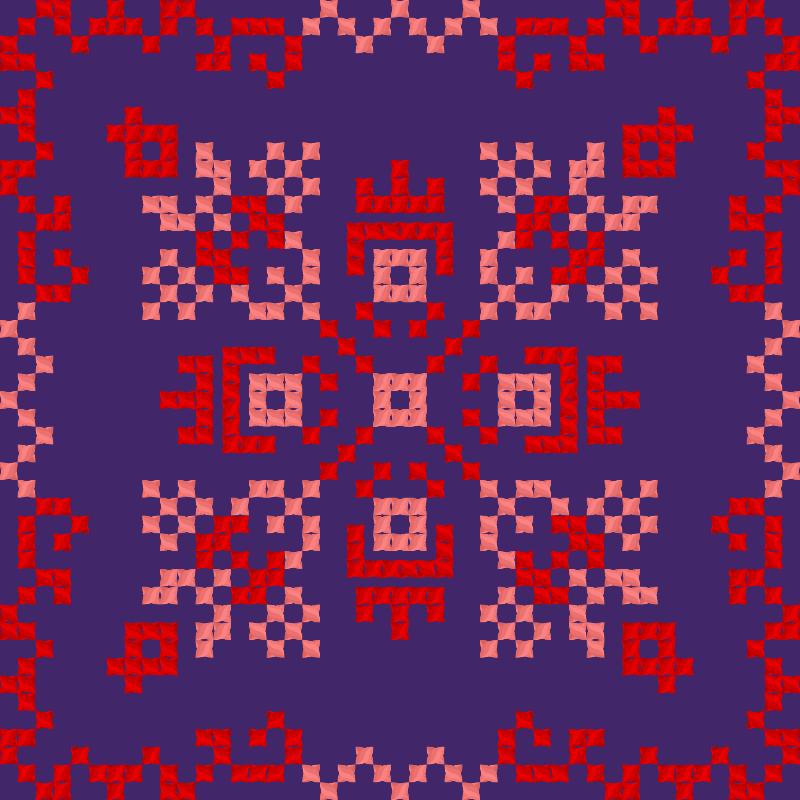 Текстовий слов'янський орнамент: Виолончель