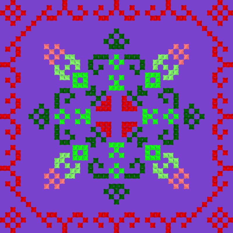 Текстовий слов'янський орнамент: Аккордеон