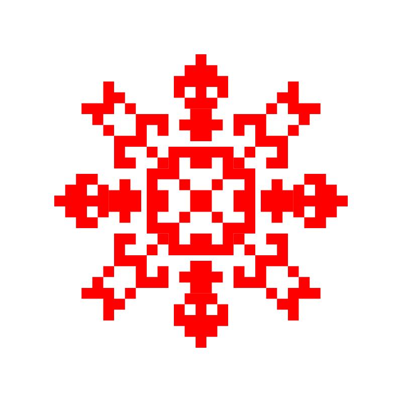Текстовий слов'янський орнамент: цвіте
