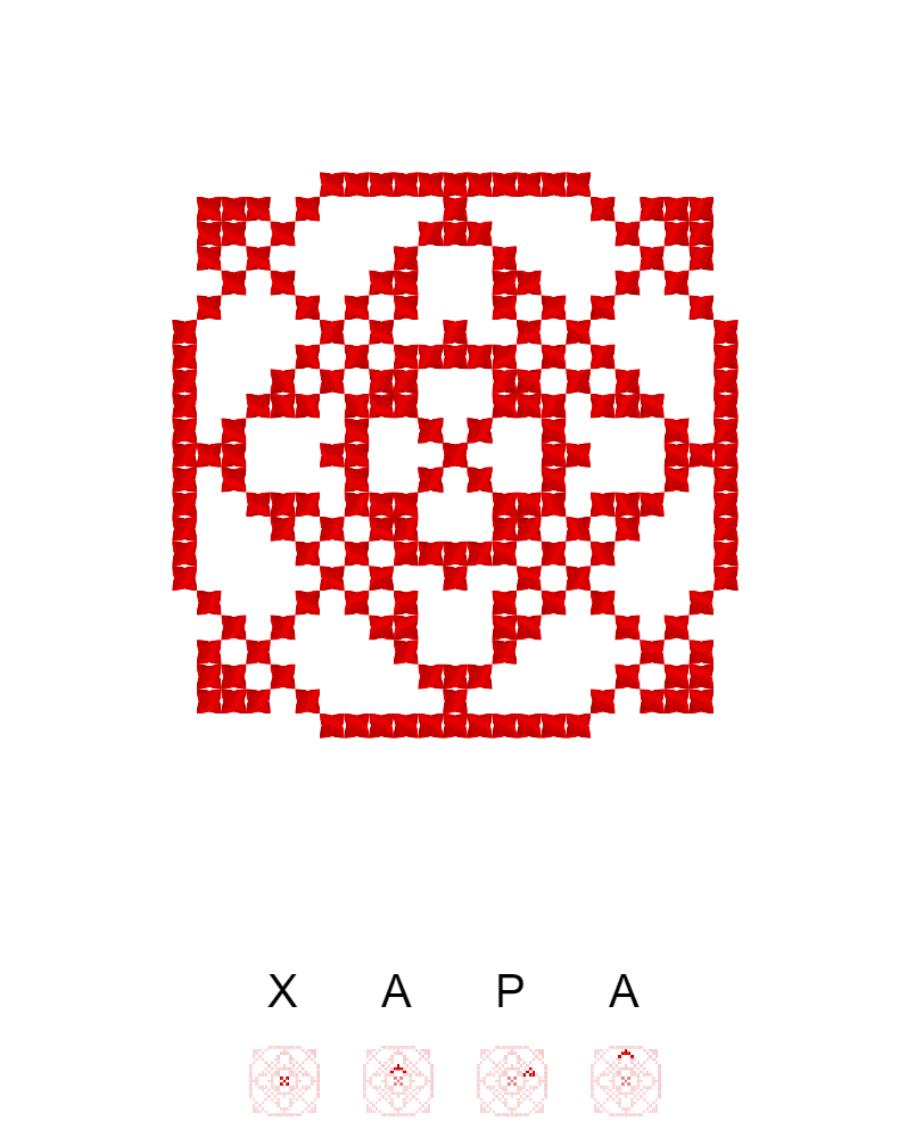Текстовий слов'янський орнамент: Хара