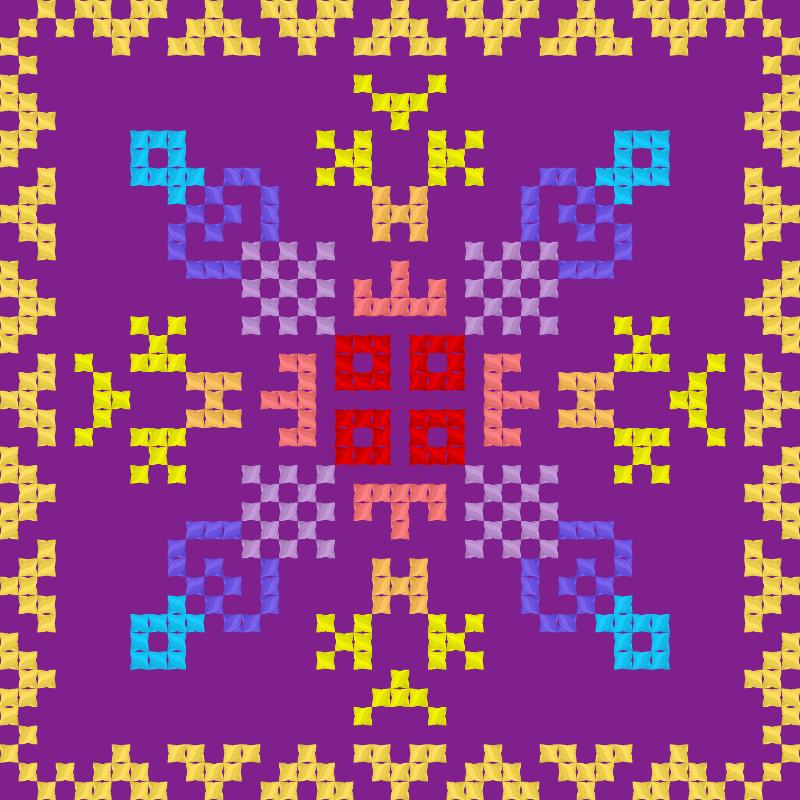 Текстовий слов'янський орнамент: Зоренька