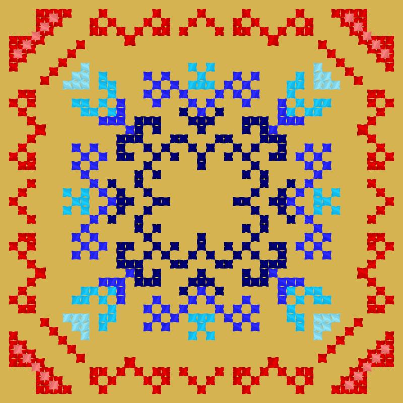 Текстовий слов'янський орнамент: Бабулечка