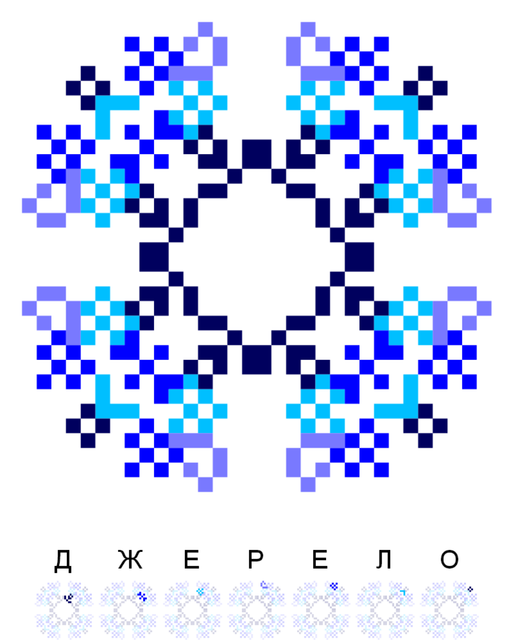 Текстовий слов'янський орнамент: Джерело