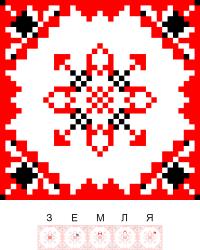 Текстовый украинский орнамент: Земля