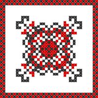 Текстовый украинский орнамент: Червоний мак
