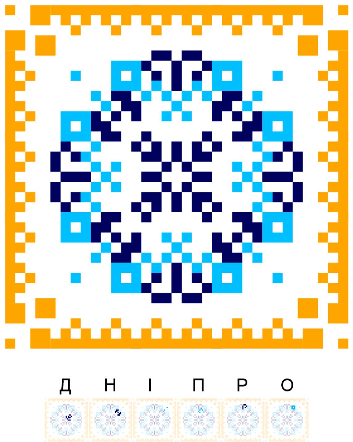Текстовий слов'янський орнамент: Дніпро