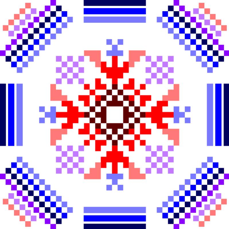 Текстовий слов'янський орнамент: Джизак