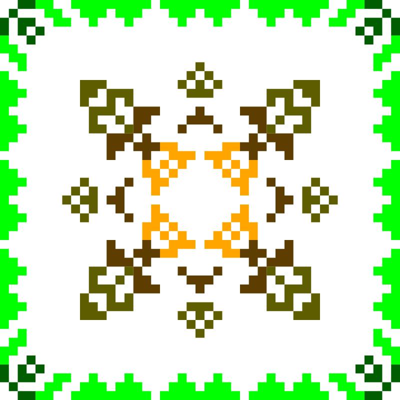 Текстовий слов'янський орнамент: Ашхабад