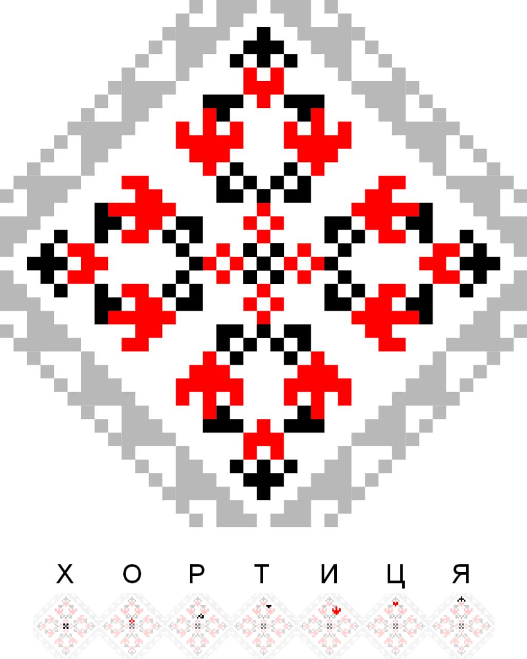 Текстовий слов'янський орнамент: Хортиця