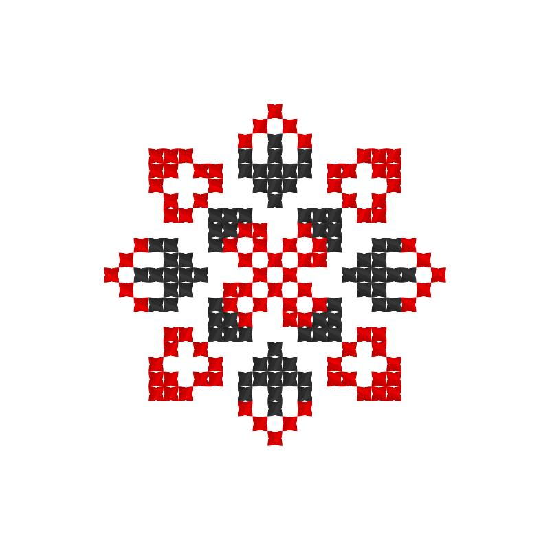 Текстовий слов'янський орнамент: Лариса