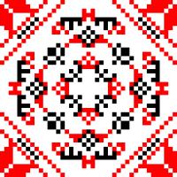 Текстовый украинский орнамент: Дизайнер