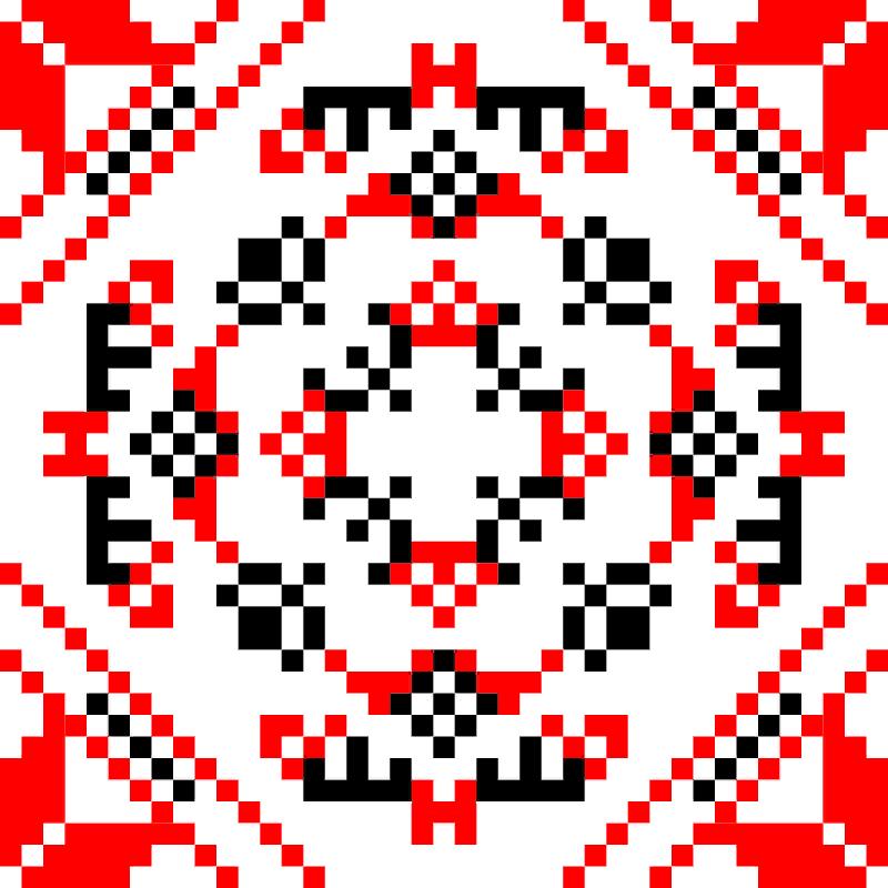 Текстовий слов'янський орнамент: Дизайнер