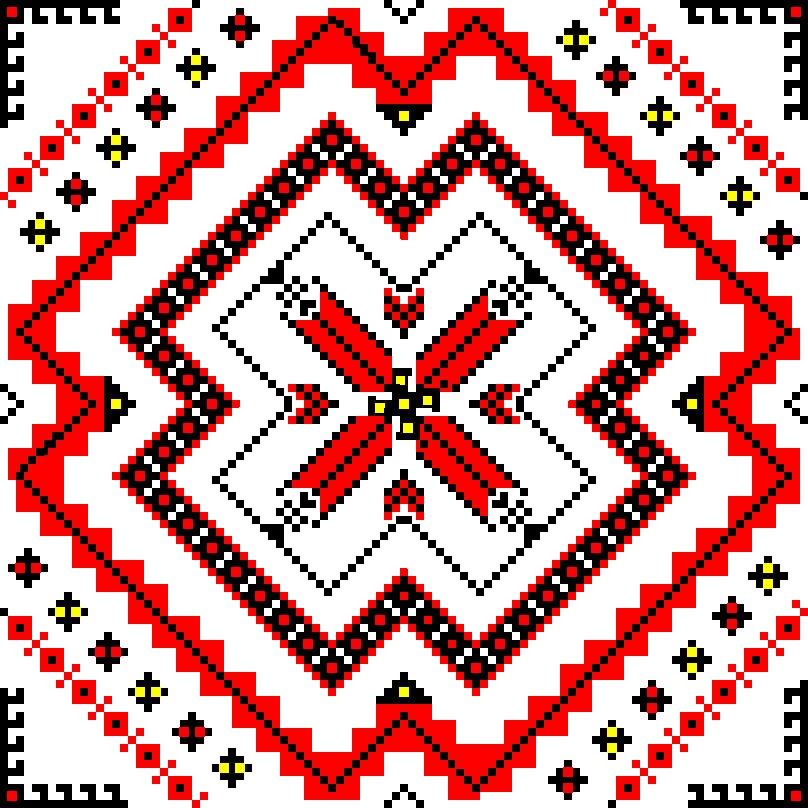 Текстовий слов'янський орнамент: Зоряна ніч