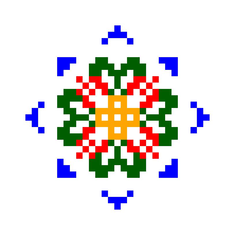 Текстовий слов'янський орнамент: Весняна Зірка