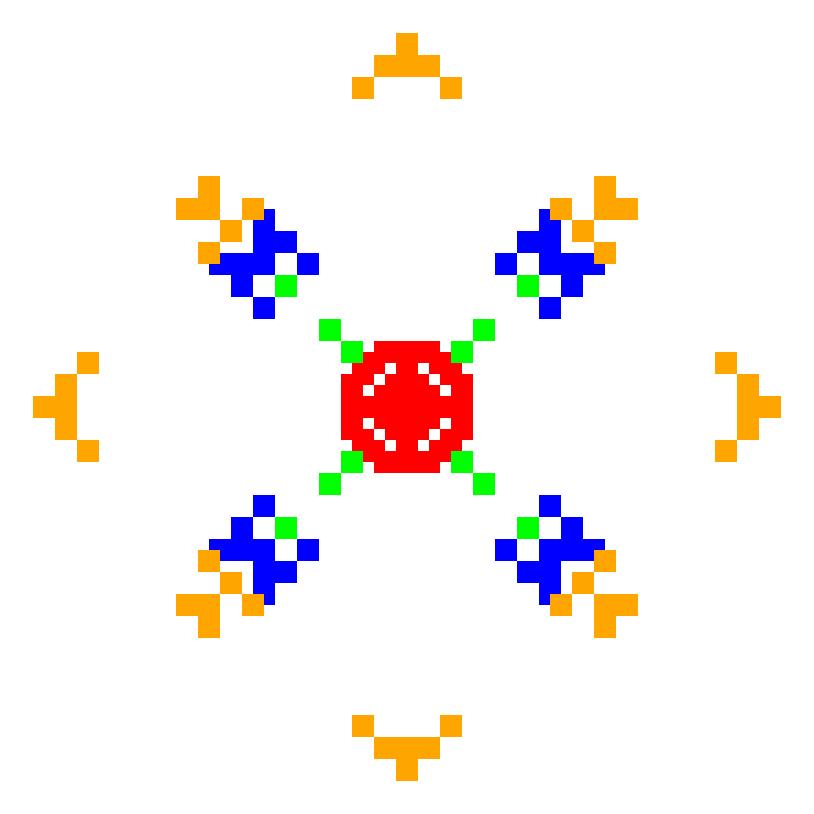 Текстовий слов'янський орнамент: дімка